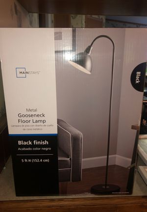 METAL GOOSENECK FLOOR LAMP $11 NEW for Sale in Wauchula, FL