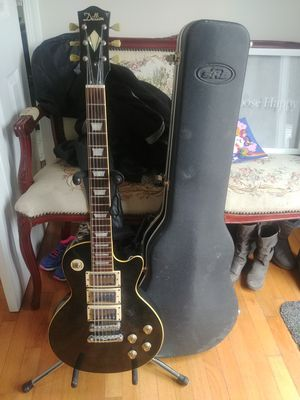 rare dillion les paul black beauty style electric guitar with 3 humbuckers for Sale in Beltsville, MD