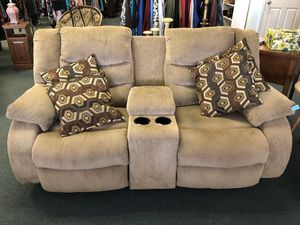 2 seat electric recliner. Tan / beige soft material for Sale in Largo, FL