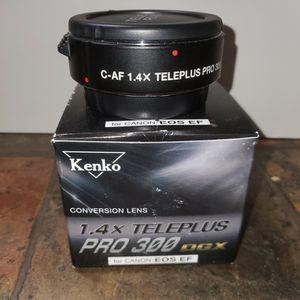 Kenko Conversion Lens 1.4 x Teleplus Pro 300 DGX for Canon EOS EF In original box. for Sale in West Bloomfield Township, MI