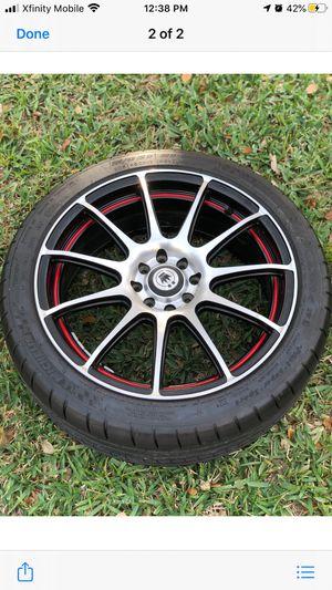 Set of 4 Konig Rims with Michelin Pilot Super Sport for Sale in Riviera Beach, FL