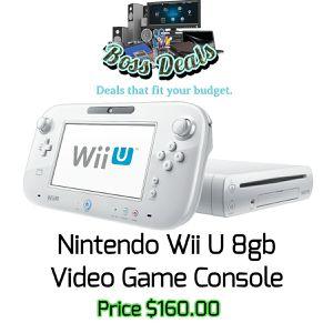 8gb Nintendo Wii U Console for Sale in Hollywood, FL