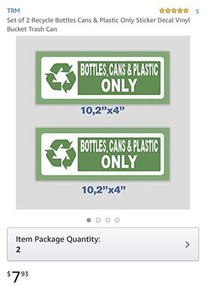 """Set of 2 recycle stickers / decal 10.2""""x2"""", retails for $7.93+taxes+delivery, yours for $5 for Sale in Spanaway, WA"""