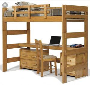 Brand new never open Solid Oak bulk bed for Sale in Philadelphia, PA