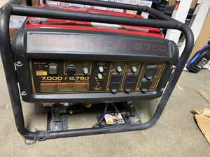 Predator generator 8,750 watts for Sale in Atwater, CA