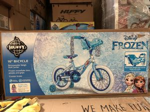 Brand New Disney FROZEN 16 inch Bike with Training Wheels for Kids for Sale in Covina, CA