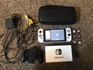 Nintendo Switch with 6 games, and micro sd card for Sale in Spring, TX