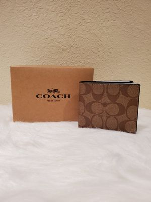 BROWN MEN'S COACH WALLET for Sale in Huntington Park, CA