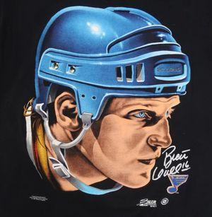 Vintage NHL Stanley Cup Champions St. Louis Blues Brett Hull Salem Sportswear Shirt for Sale in Philadelphia, PA