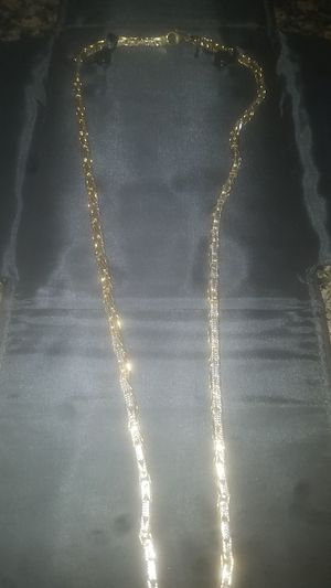 10k yellow gold byzantine diamond krust chain 100grams for Sale in Houston, TX