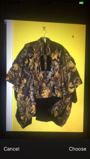 Camo Cloth Backpack/ And Pancho Great Shape! for Sale in Springfield, TN