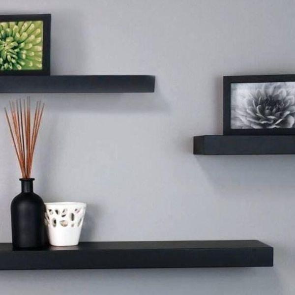 Floating shelves, IKEA, Black, 3