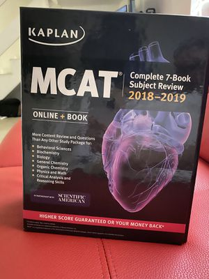 Kaplan MCAT Complete 7 Book Subject Review for Sale in Coral Gables, FL