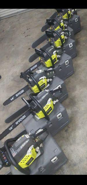 RYOBI GAS CHAINSAW 16 IN for Sale in Colton, CA