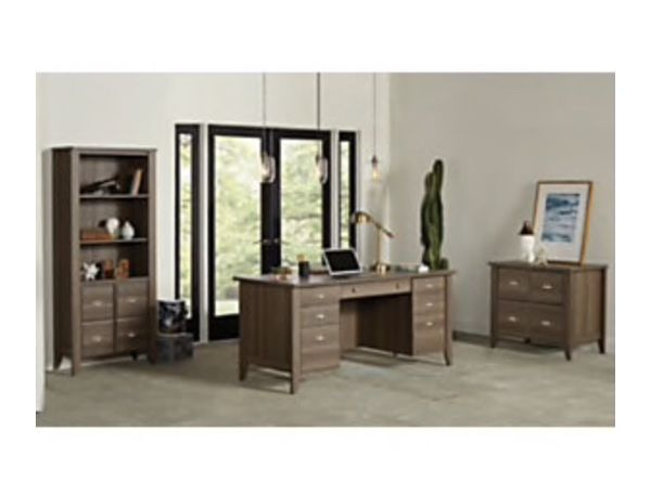 Sauder® Shoal Creek Executive Desk, Diamond Ash