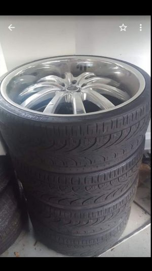 """24"""" Chrome Rims only. Needs Tires! for Sale in Fort Lauderdale, FL"""