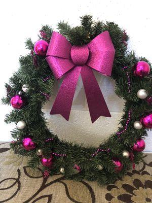 Christmas wreath - purple bow for Sale in Norfolk, VA