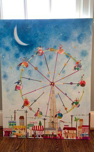 Canvas Ferris Wheel Art - Great Kids' Room Decor for Sale in Potomac, MD