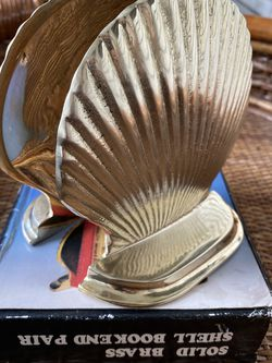 Vintage Solid Brass Boho Shell Bookends for Sale in Orlando,  FL