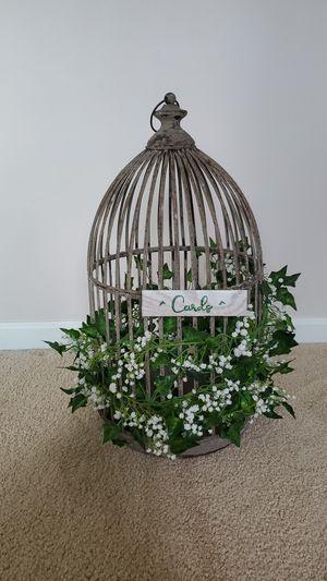 Rustic Bird Cage Card Holder, Plant holder for Sale in Fraser, MI