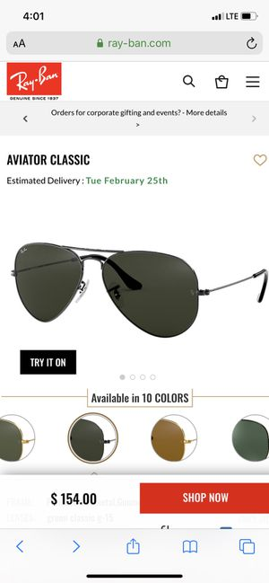 Rayban sunglasses men's for Sale in Germantown, MD