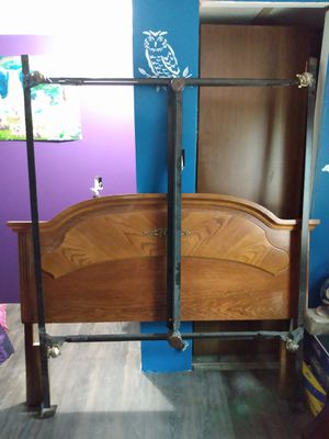 Queen bed frame and headboard for Sale in Lexington, NC