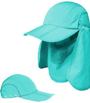 Sun Caps UV Protection UPF 50+Flap Hats Removable Face Neck Flap Cover Caps Shade Hat for Women Men for Sale in Dyersburg, TN