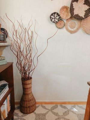 Boho wicker vase decor for Sale in San Diego, CA