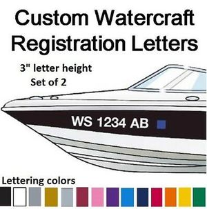 Boat and jet ski registration numbers boat graphics boat names etc for Sale in Hialeah, FL