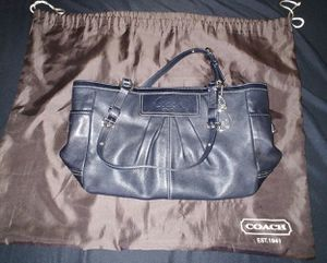 Black coach leather purse with wallet - send offer for Sale in Baldwin Park, CA