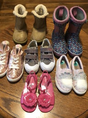 Toddler girl Size 8 shoes lot for Sale in Chesapeake, VA