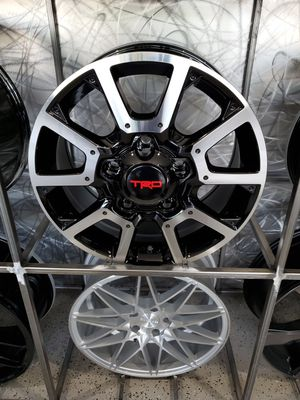 "18"" TRD tundra style wheel black machine rims wheel tire shop for Sale in Tempe, AZ"