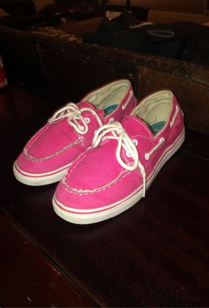 Vans Pink Boat Shoes Womens 5 for Sale in Corvallis, OR