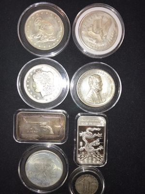 8 Silver coins for Sale in Chino, CA