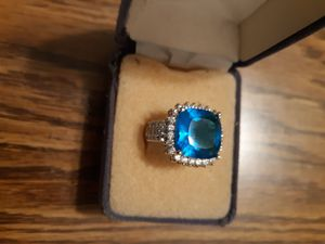 Sterling creations big sapphire ring for Sale in Pueblo West, CO