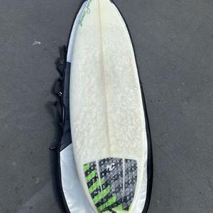 7'0 Bruce Jones 5-fin surfboard complete setup!! for Sale in Huntington Beach, CA
