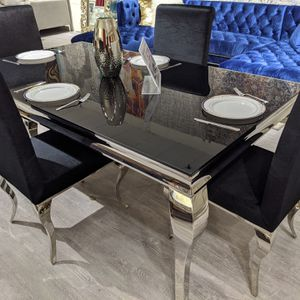 Modern Glass Dinette Table Set, On Sale! for Sale in Hempstead, NY