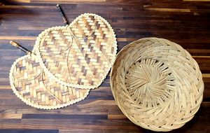 Wicker Bowl and Fans Decor for Sale in Tacoma, WA