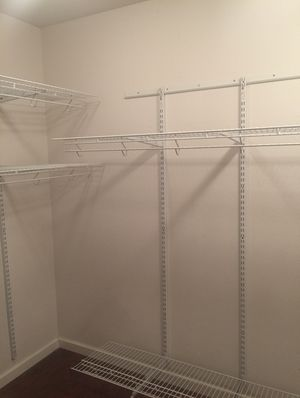4 Shelves for closet with wall holder. Good condition. for Sale in Fresno, CA