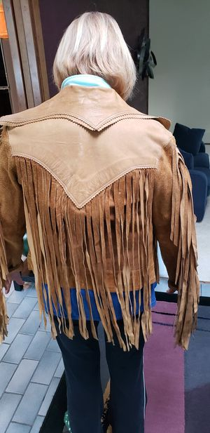Vintage long fringe womens jacket for Sale in Auburn, WA