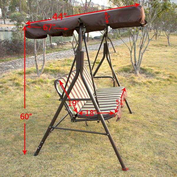 Outdoor Canopy Swing Chair For Patio Backyard Yard Porch Furniture