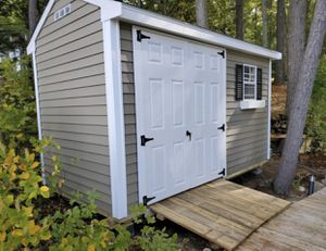 New 8' x 10' Pebble Beige Vinyl A Frame Shed for Sale in Marblehead, MA
