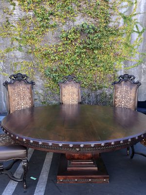 Like New Spanish Revival / Mexican Style Dining Table Set for Sale in Carlsbad, CA