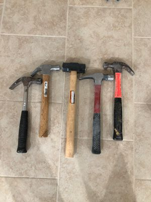 Variety of hand hammers for Sale in Dearborn, MI