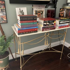 Antique Metal Marble Console for Sale in West Covina, CA