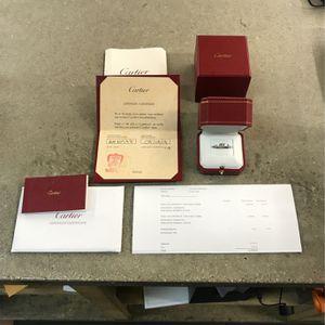 C DE Cartier Wedding Band 53 Platinum Diamond AEN978 for Sale in Rosemead, CA