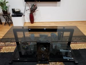 """Beautiful Glass TV stand for 55"""" TV very good for Sale in Fremont, CA"""