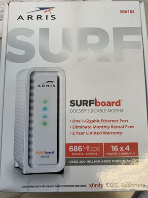 Arris surfboard cable modem SB6183 for Sale in Pflugerville, TX