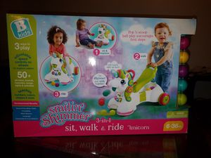 Brand new... sell for $40/45 at the store.... B Kids Unicorn 3in 1 sit walk & ride for Sale in PA, US