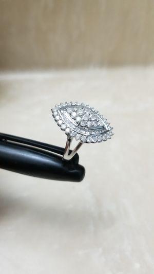 2.05 CTW Diamond Ring Solid 10k White Gold for Sale in Phoenix, AZ